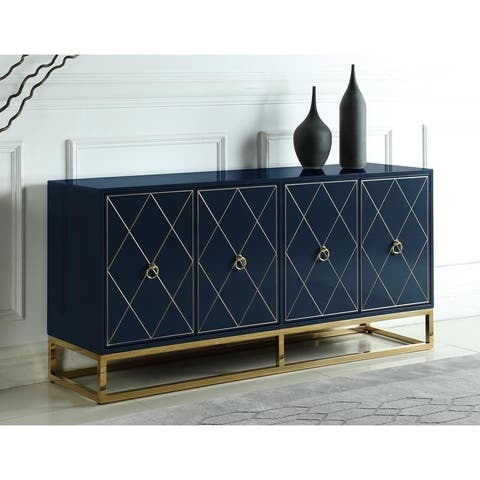 Strick & Bolton Selena Goldtone 4-door Sideboard
