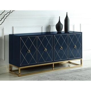 Link to Strick & Bolton Selena Goldtone 4-door Sideboard Similar Items in Dining Room & Bar Furniture