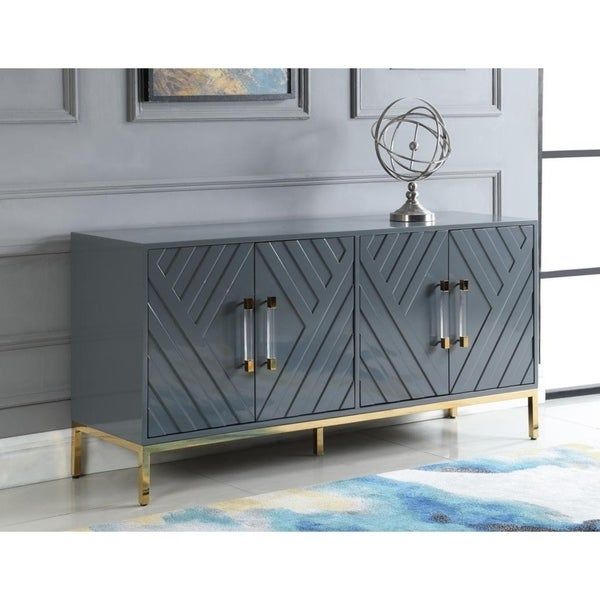 Strick & Bolton Fourier Geometric 4-door Sideboard. Opens flyout.