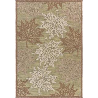"Maple Leaf Botanical Indoor/Outdoor Rug - 7'9"" x 9'9"""