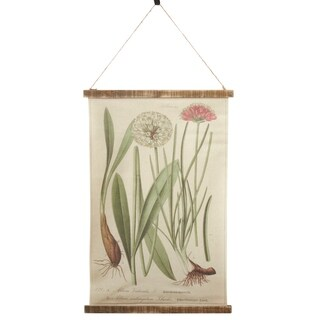 Wall Hanging With Botanical Design