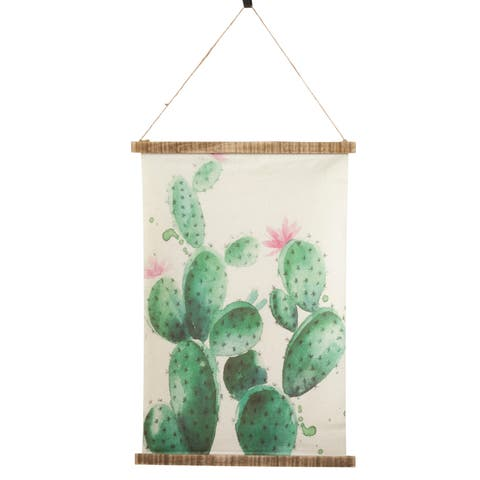 Wall Hanging With Large Cactus Design