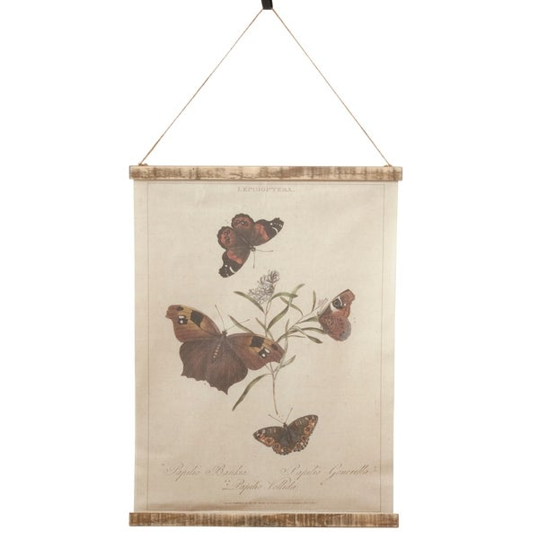 Canvas Wall Hanging With Butterflies Design