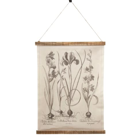 Canvas Wall Hanging With Botanical Design