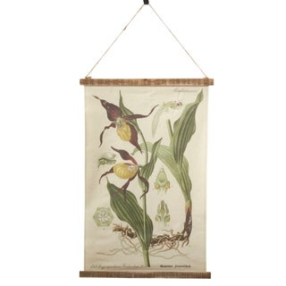 Linen Wall Hanging With Botanical Design