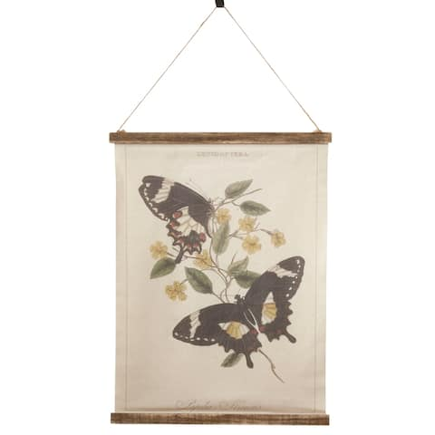 Canvas Wall Hanging with Butterfly Design