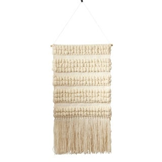 Textured Woven Wall Hanging With Braided Design