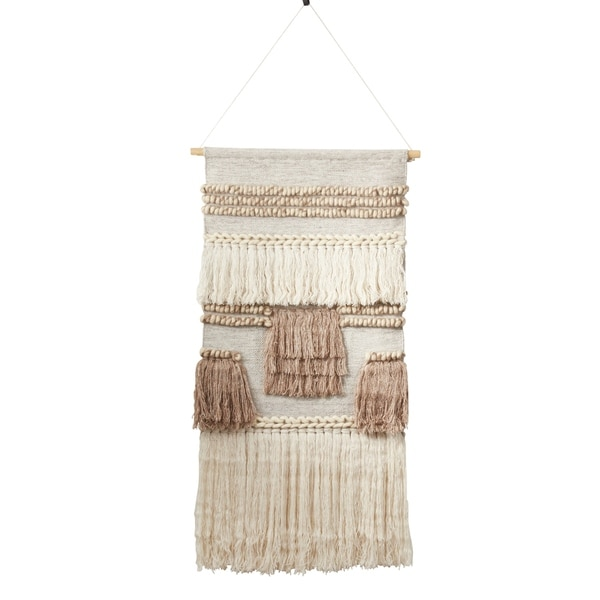 Woven Wall Hanging With Textured Design