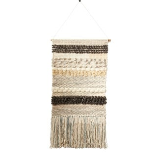 Woven Wall Hanging With Multicolored Design