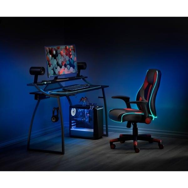 Alpha Battlestation Gaming Desk, Black. Opens flyout.