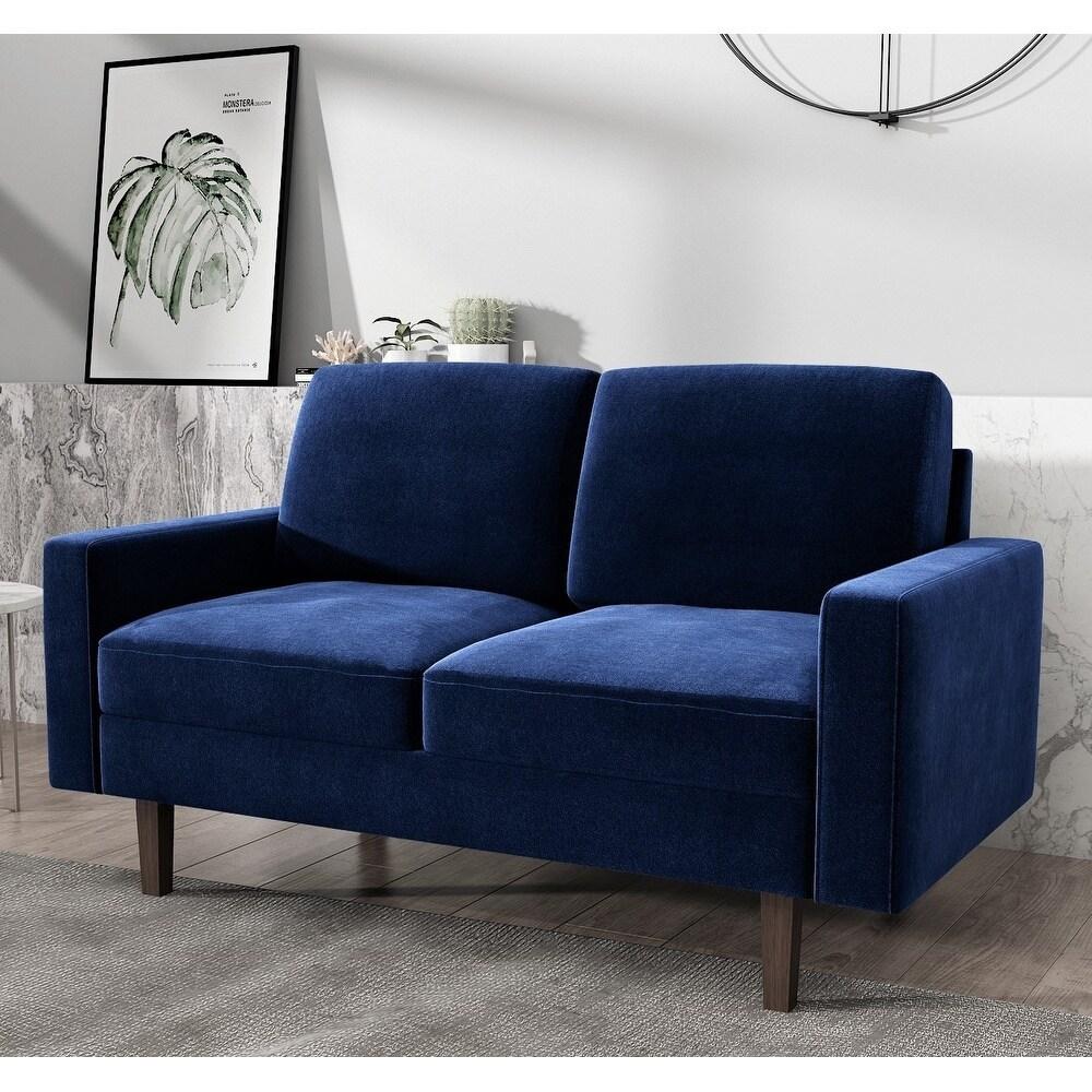 Carson Carrington Paajarvi Modern Velvet 2 Seater Loveseat On Sale Overstock 29717306