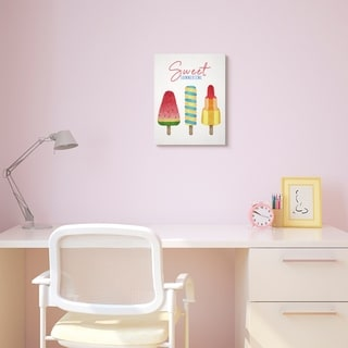 The Kids Room by Stupell Sweet Summertime Ice Creams Kids Nursery Design Canvas Wall Art, Proudly Made in USA