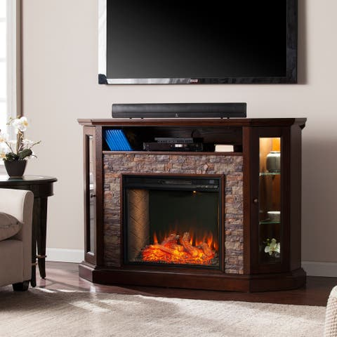 Copper Grove Richards Alexa-enabled Fireplace with Storage - N/A