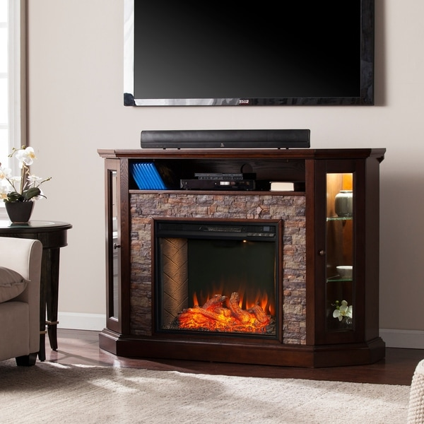 Shop Copper Grove Richards Brown Alexa Enabled Fireplace