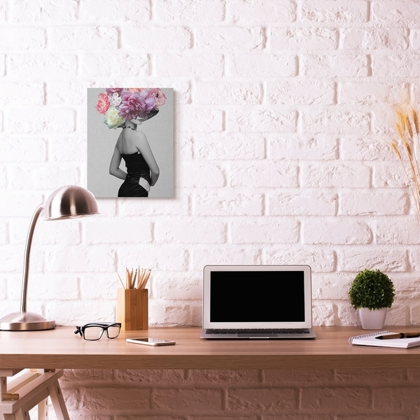 Porch & Den 'Fashion Model Portrait' Grey Canvas Wall Art