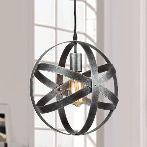 Gilli Industrial Vintage Spherical Pendant Light Metal Globe Downlight Chandelier