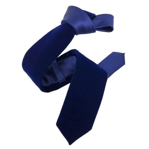 DMITRY Blue Velvet Italian Semi Skinny Tie