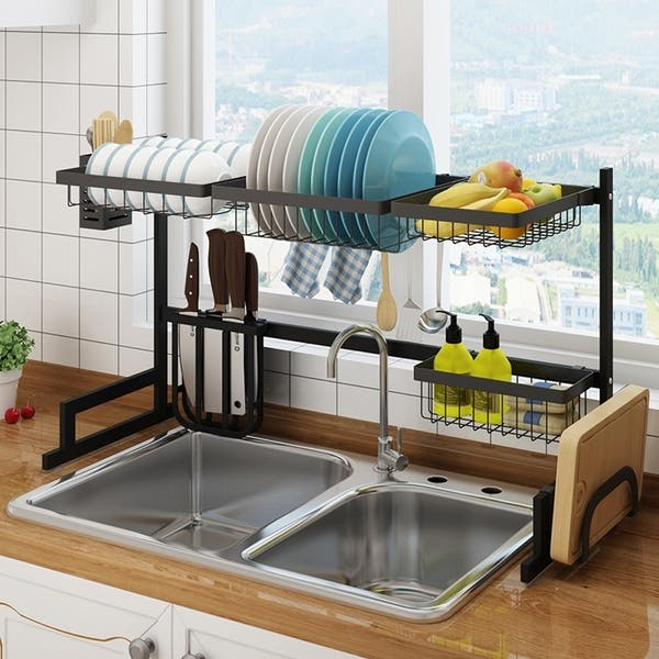 Dish Drying Rack Over Kitchen Sink