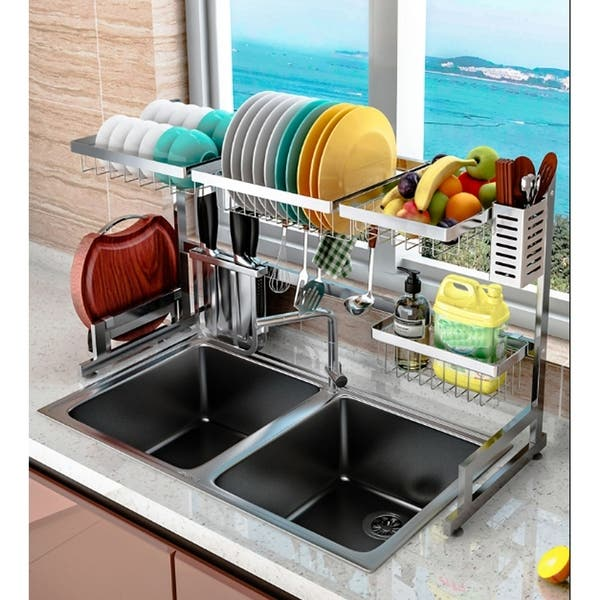 37in Stainless Steel Dish Drying Rack