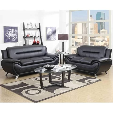 Greatime SL2301 leatherette sofa and Love seat 2 piece Sets