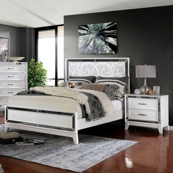Shop Silver Orchid Brian Transitional Mirrored 2 Piece Bedroom Set