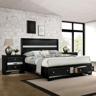 Silver Orchid Manzini Black 3-piece Bedroom Set
