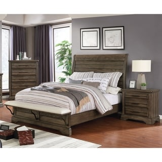 Furniture of America Kete Transitional 3-piece Bedroom Set w/ Storage
