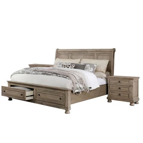 Furniture of America Nahkohe 3-piece Bedroom Set with 2 Nightstands