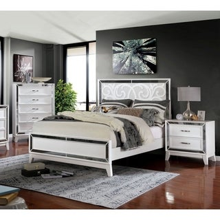 Furniture of America Poso Transitional 3-piece Bedroom Set w/ Storage