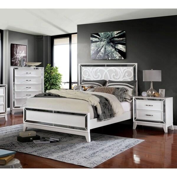 Furniture of America Poso Transitional 3-piece Bedroom Set w/ Storage