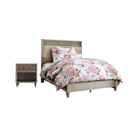 Furniture of America Daff Traditional Solid Wood 2-piece Bedroom Set