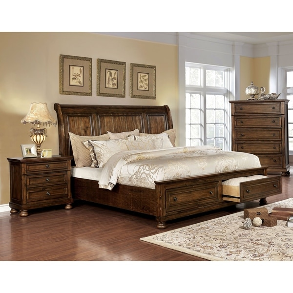 Furniture of America Mallone Transitional 3-piece Bedroom Set