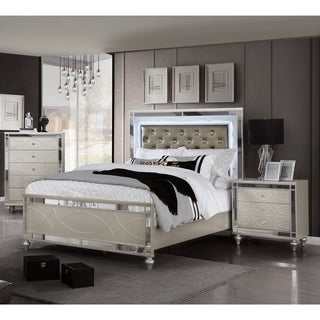 Furniture of America Lere Transitional 3-piece Bedroom Set w/ Storage