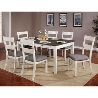 Furniture of America Lini Farmhouse White 7-piece Dining Set