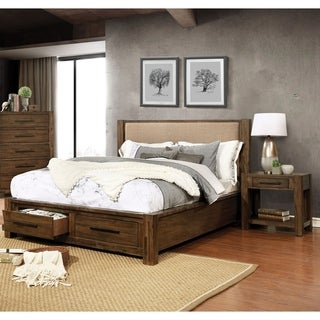 Furniture of America Pore Transitional Solid Wood 2-piece Bedroom Set