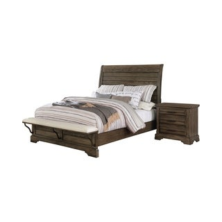 Furniture of America Kete Transitional Solid Wood 2-piece Bedroom Set
