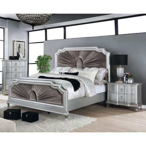Furniture of America Maza Grey 3-piece Bedroom Set w/ Storage