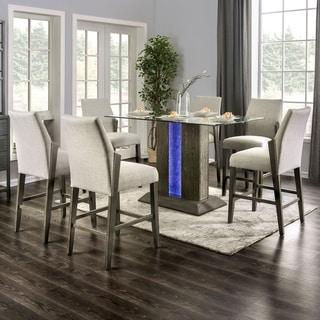 Furniture of America Rax Mid-century Modern Grey 7-piece Counter Set