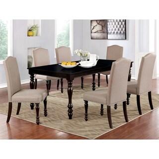 Furniture of America Rila Transitional Espresso 7-piece Dining Set
