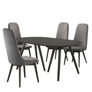 Furniture of America Yaza Mid-century Modern Grey 5-piece Dining Set