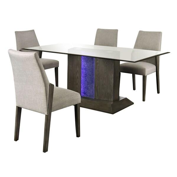 Furniture of America Rax Mid-century Modern Grey 5-piece Dining Set