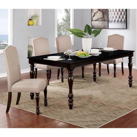 Furniture of America Rila Transitional Espresso 5-piece Dining Set