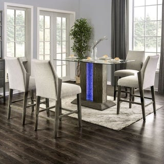 Kennis Grey 5-piece Counter Height Dining Set by FOA