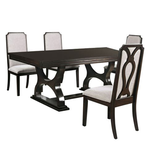 Furniture of America Cope Transitional Espresso 5-piece Dining Set
