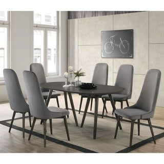 Link to Furniture of America Yaza Mid-century Modern Grey 7-piece Dining Set Similar Items in Dining Room & Bar Furniture