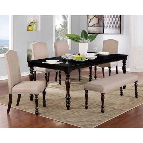Furniture of America Rila Transitional Espresso 6-piece Dining Set