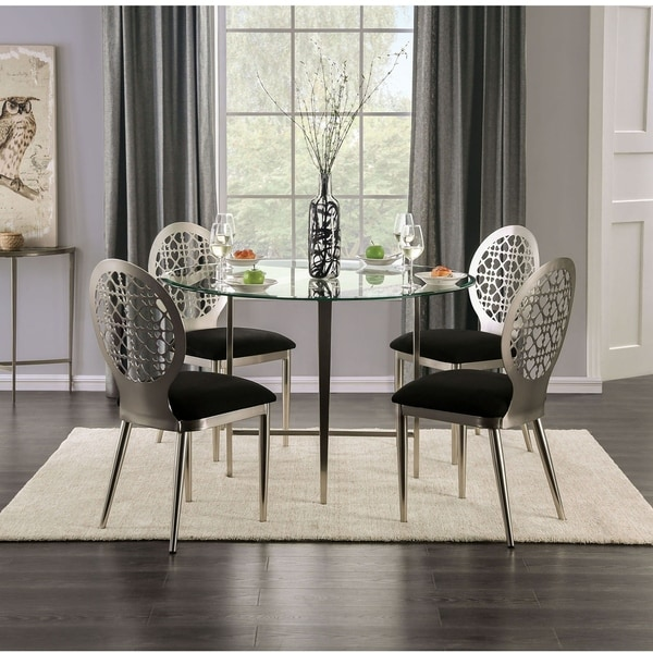 Furniture of America Tend Contemporary Silver 5-piece Dining Set