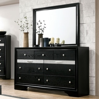 Silver Orchid Balistrieri Black 2-piece Dresser and Mirror Set
