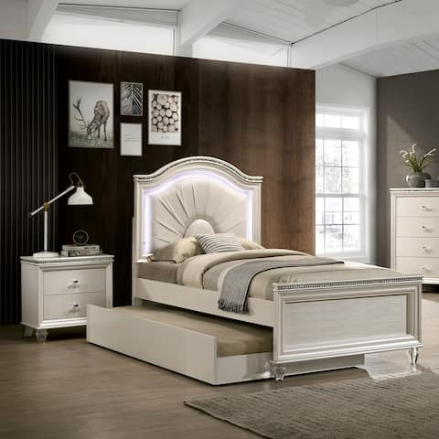 Furniture of America Ving Transitional White 3-piece Youth Bedroom Set