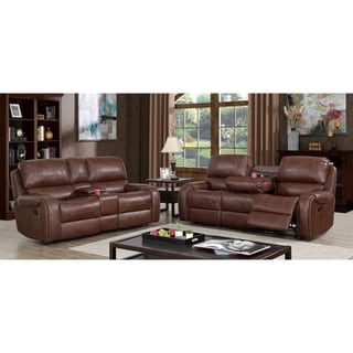 Furniture of America Breg Transitional 2-piece Reclining Sofa Set
